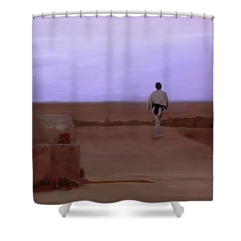 Galaxy Shower Curtains