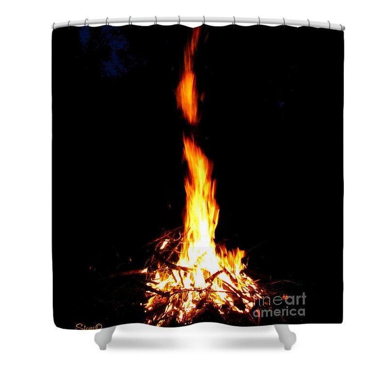 Fire Shower Curtain featuring the photograph Lumiere by September Stone