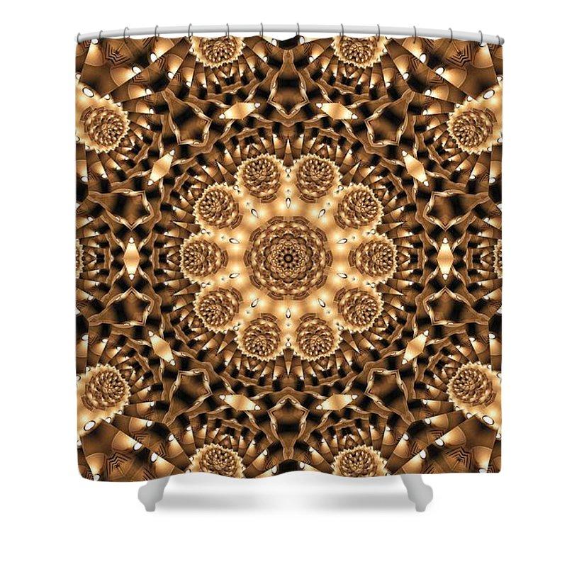 Kaleidoscope Shower Curtain featuring the photograph Kaleidoscope 86 by Ron Bissett