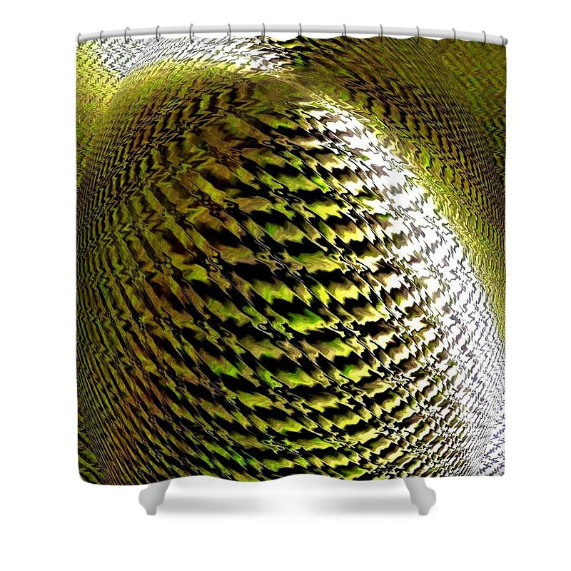 Abstract Shower Curtain featuring the digital art Luminous Energy 11 by Will Borden