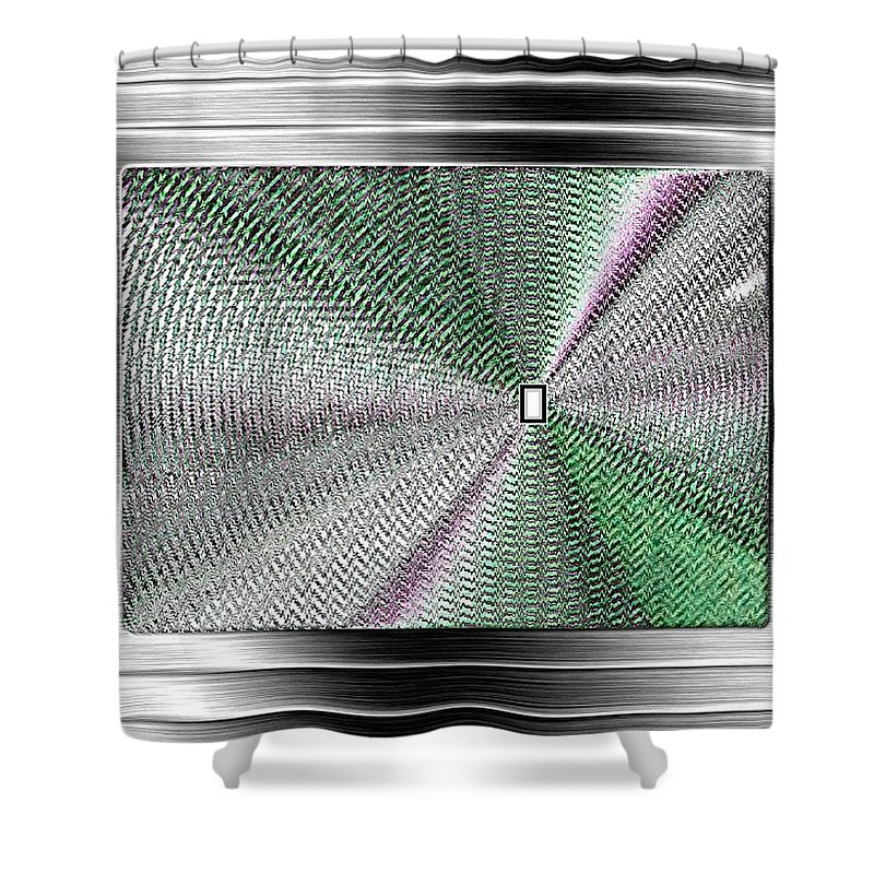 Abstract Shower Curtain featuring the digital art Luminous Energy 13 by Will Borden