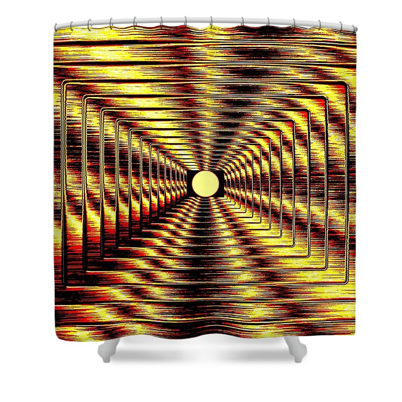 Abstract Shower Curtain featuring the digital art Luminous Energy 2 by Will Borden