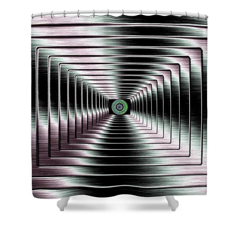 Abstract Shower Curtain featuring the digital art Luminous Energy 4 by Will Borden