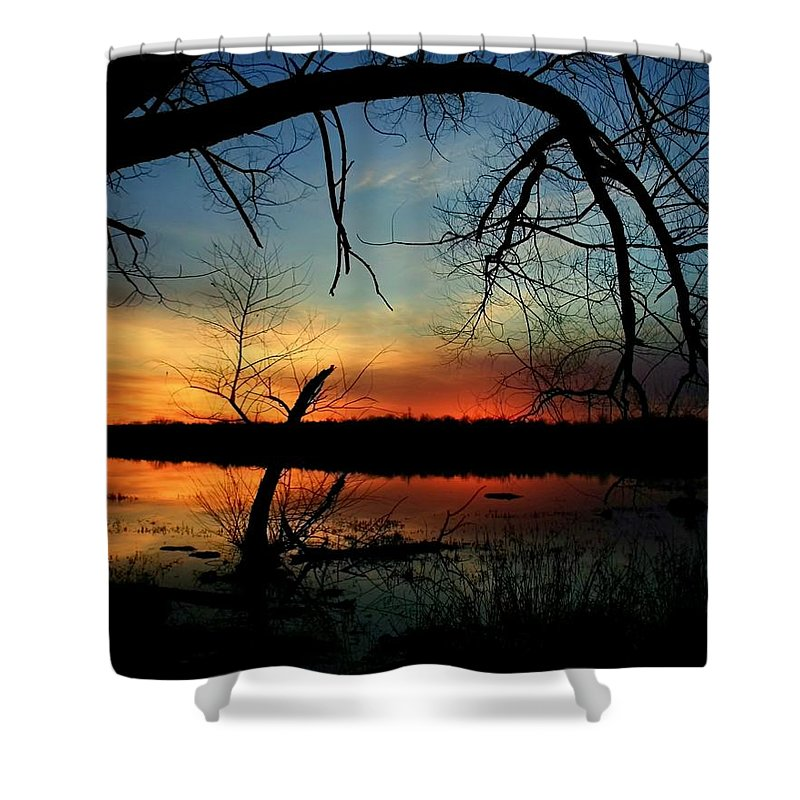 Landscape Shower Curtain featuring the photograph Luminous Essence by Mitch Cat