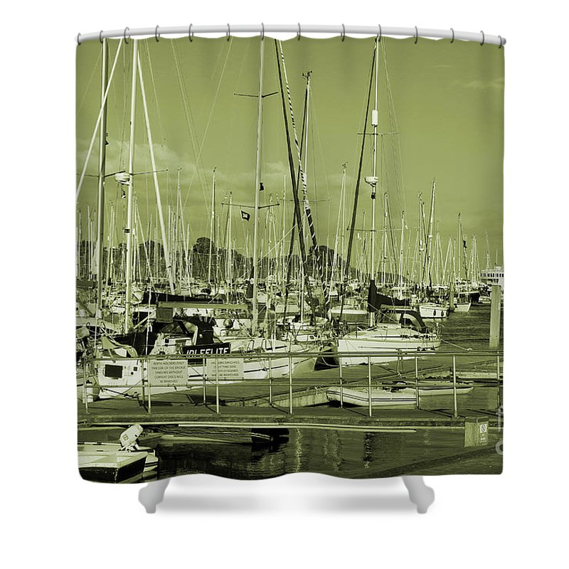 Lymington Shower Curtain featuring the photograph Lymington Marina by Kevin Richardson