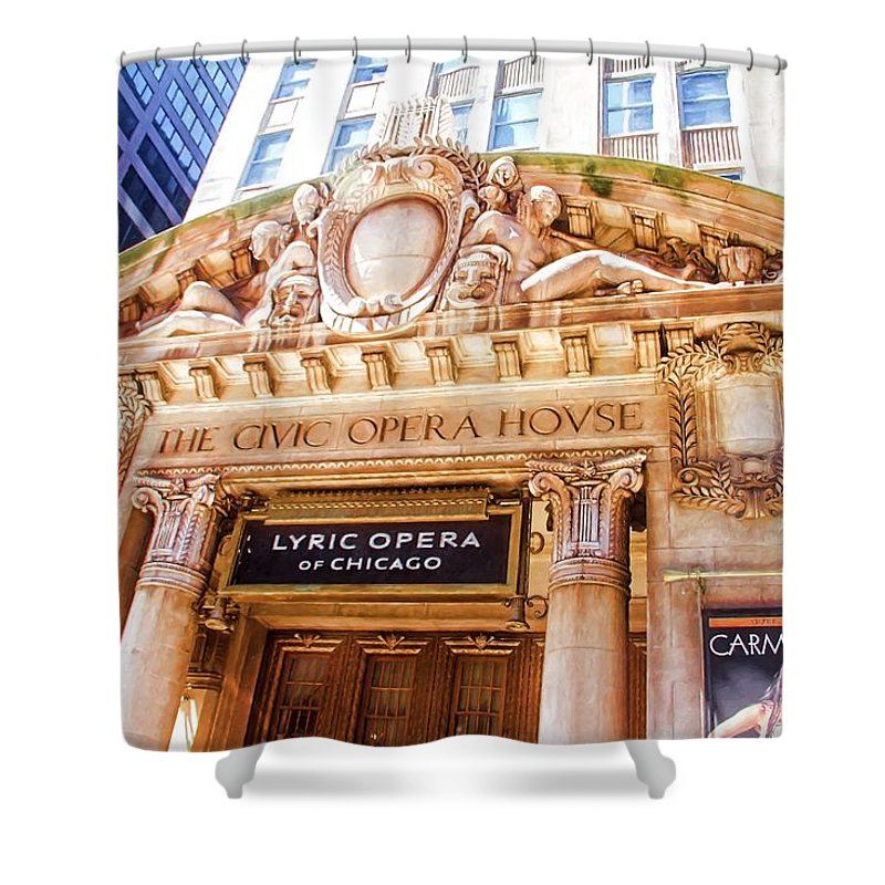 Alicegipsonphotographs Shower Curtain featuring the photograph Lyric Opera Of Chicago by Alice Gipson