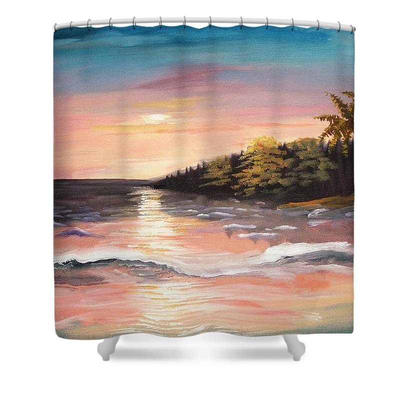 Artist Shower Curtain featuring the painting My Stimulation by Marcel Quesnel