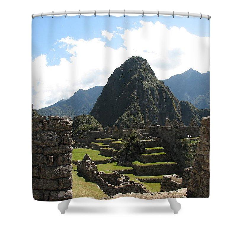 Landscape Shower Curtain featuring the photograph Macchu Picchu 10 by Sandra Bourret