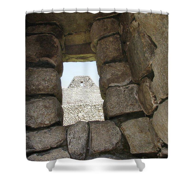 Landscape Shower Curtain featuring the photograph Macchu Picchu 6 by Sandra Bourret
