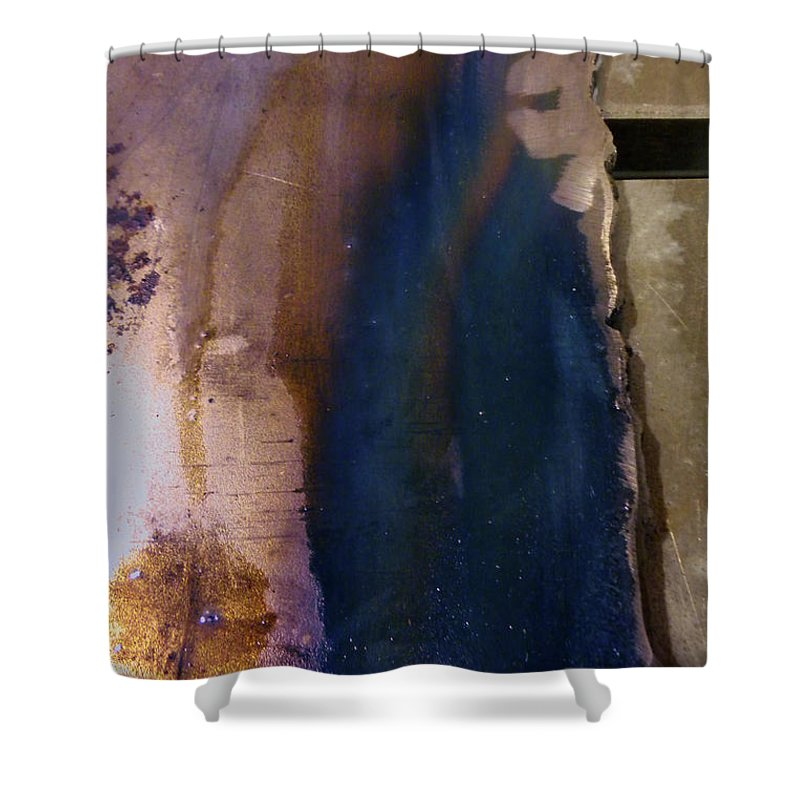 Abstract Shower Curtain featuring the photograph Machine Age Blues by Jay Ressler