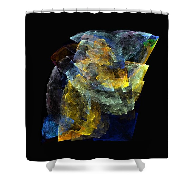 Digital Painting Shower Curtain featuring the digital art Machine Art by David Lane