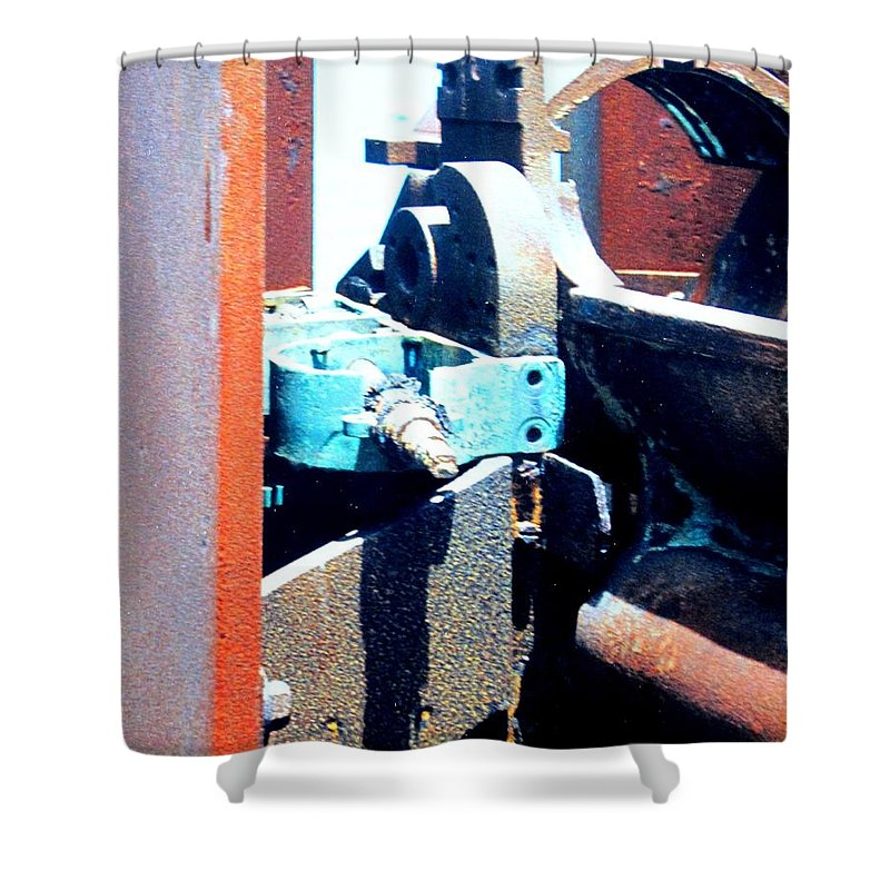 Rust Shower Curtain featuring the photograph Machinery by Ian MacDonald