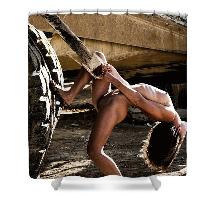 Sensual Shower Curtain featuring the photograph Machinery by Olivier De Rycke