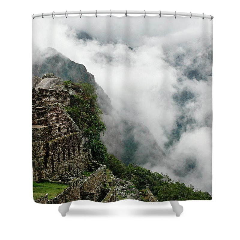 Storm Shower Curtain Featuring The Photograph Machu Picchu Cloud Forest By Dave Sribnik