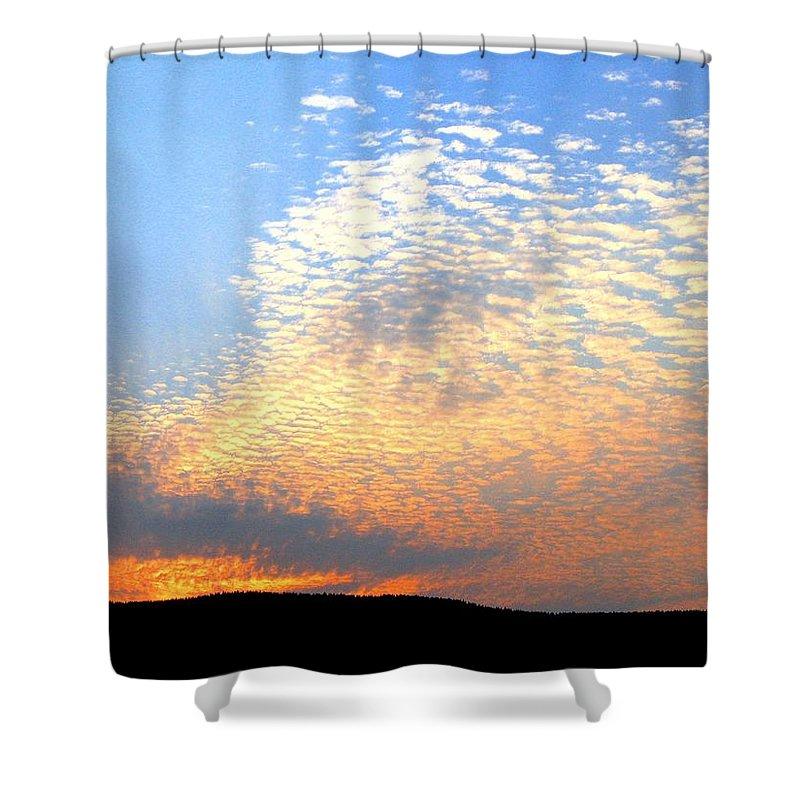 Mackerel Sky Shower Curtain featuring the photograph Mackerel Sky by Will Borden