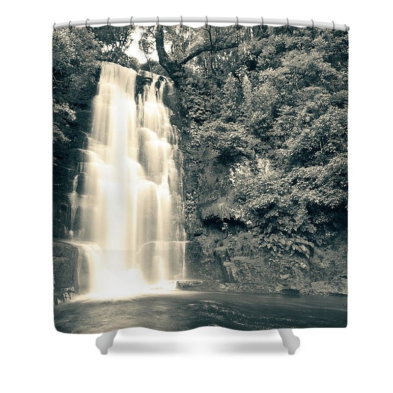 Catlins Shower Curtain featuring the photograph Maclean Falls New Zealand by U Schade