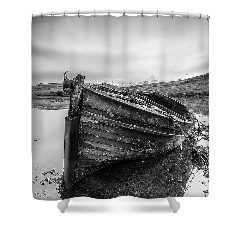 Macnab Bay Old Boat Shower Curtain featuring the photograph Macnab Bay Old Boat by Keith Thorburn LRPS AFIAP CPAGB