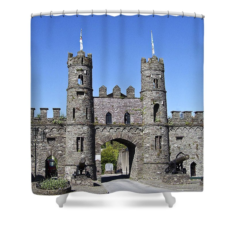 Irish Shower Curtain featuring the photograph Macroom Castle Ireland by Teresa Mucha