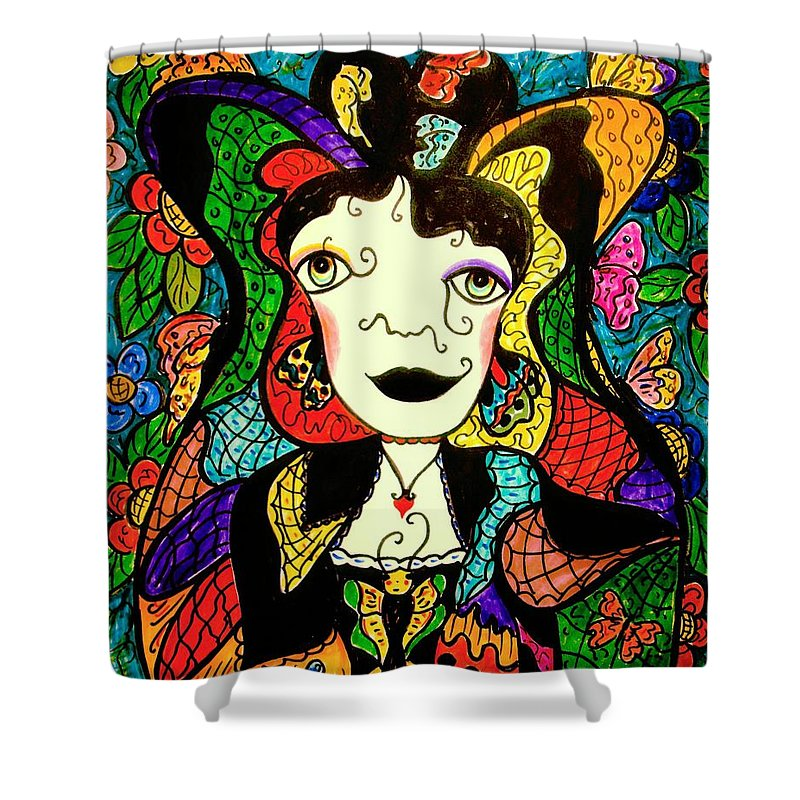 Fantasy Shower Curtain featuring the painting Madame Butterfly by Natalie Holland