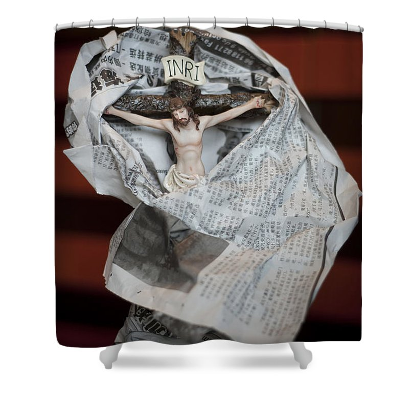 Spain Shower Curtain featuring the photograph Made In China Christ by Rafa Rivas
