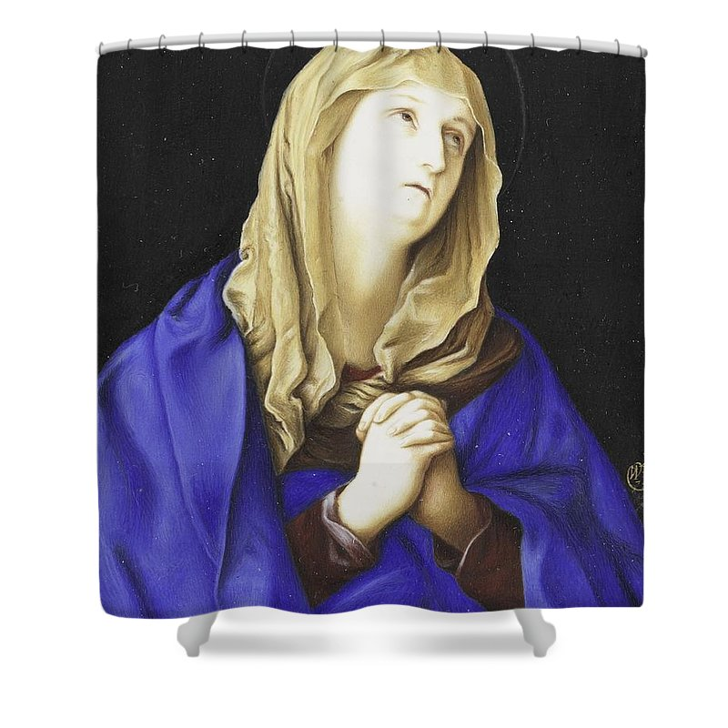 Madonna Shower Curtain featuring the painting Madonna by Willem Paulet