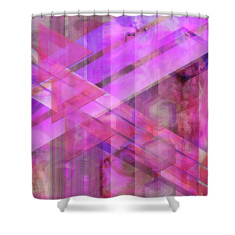 Magenta Haze Shower Curtain featuring the digital art Magenta Haze by John Beck