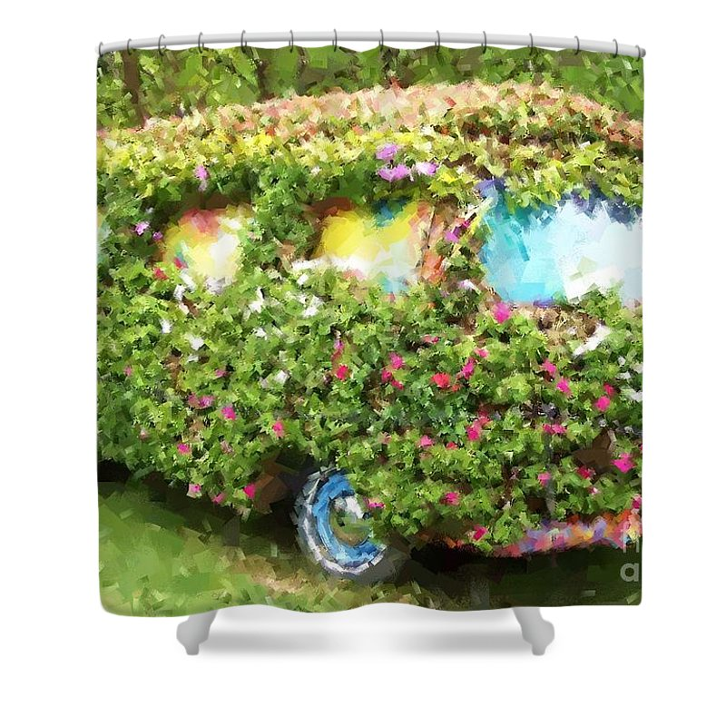 Volkswagen Shower Curtain featuring the photograph Magic Bus by Debbi Granruth