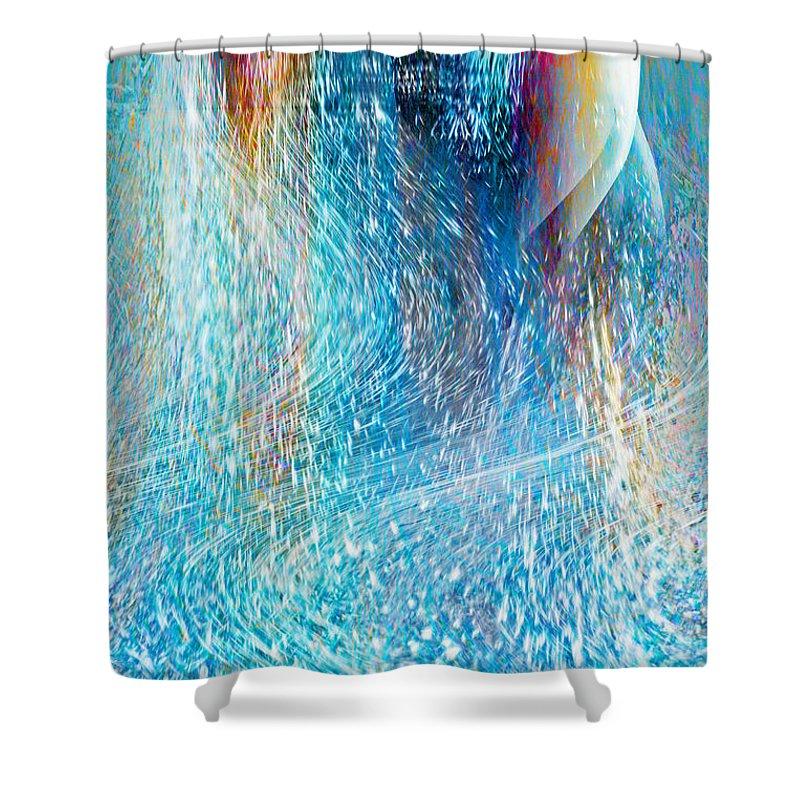 Magic Canvas Shower Curtain featuring the digital art Magic Canvas by Linda Sannuti