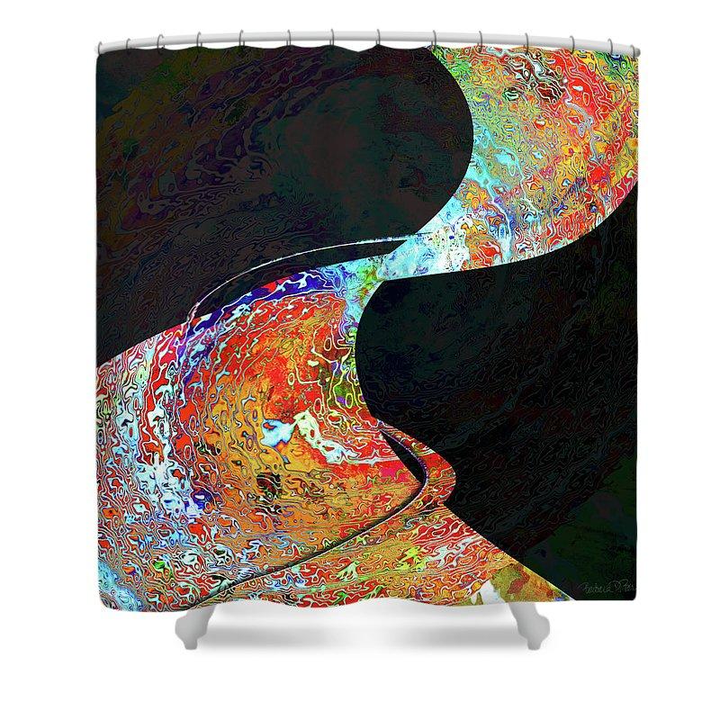 Carpet Shower Curtain featuring the digital art Magic Carpet by Barbara Berney