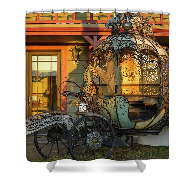Cinderella Shower Curtain featuring the photograph Magic Carriage by Joe Hudspeth