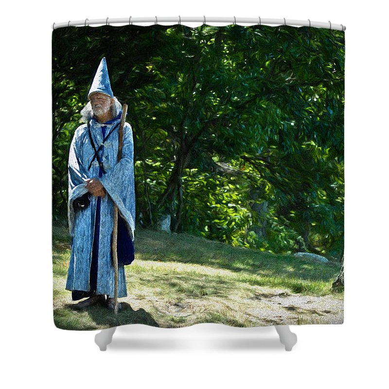 Wizard Shower Curtain featuring the photograph Magic Man by William Reade