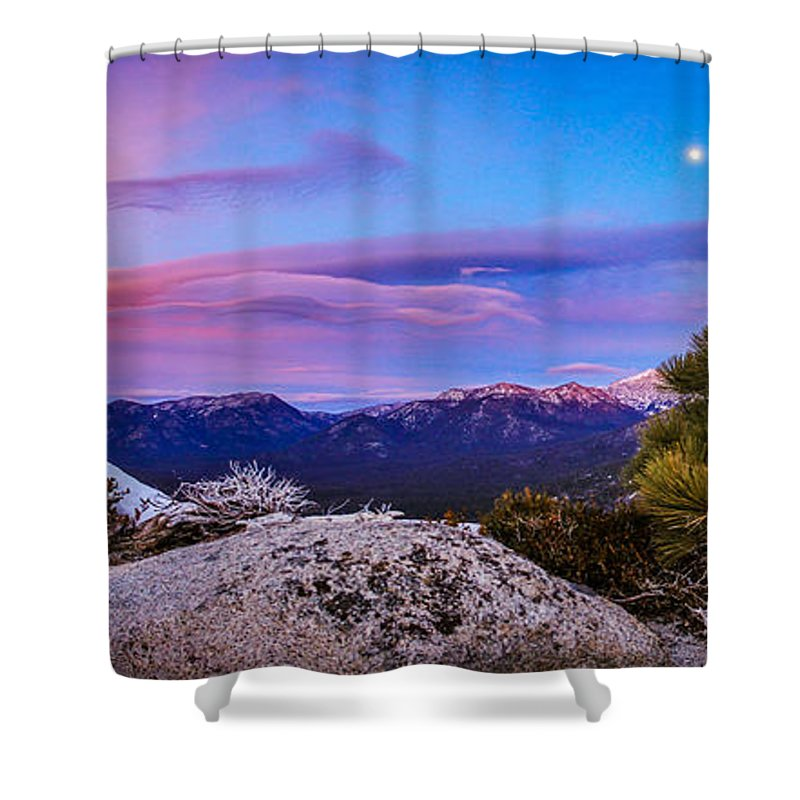 Landscape Shower Curtain featuring the photograph Magic Summit by Mike Herron