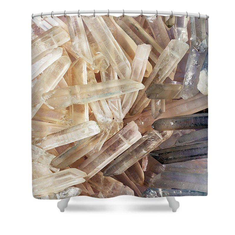 Sparkly Clear Magical Unicorn Crystal Shards Shower Curtain featuring the photograph Magical Sparkly Crystals by The Quarry