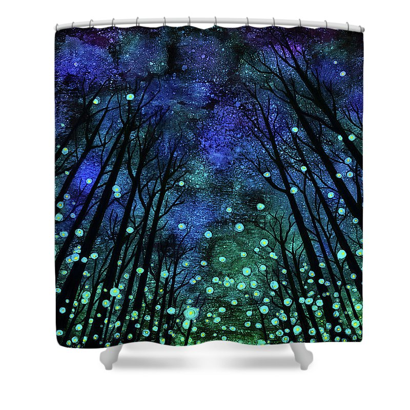 Alcohol Ink Shower Curtain featuring the painting Magical Summer Nights by Jennifer Allison