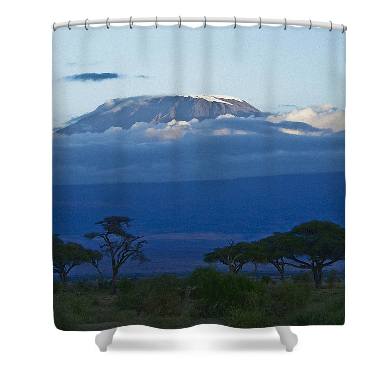 Africa Shower Curtain featuring the photograph Magnificent Kilimanjaro by Michele Burgess