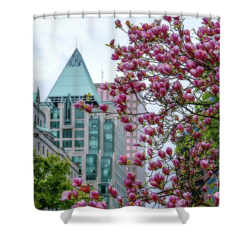 Magnolia Shower Curtain featuring the photograph Magnolia At Downtown. by Viktor Birkus