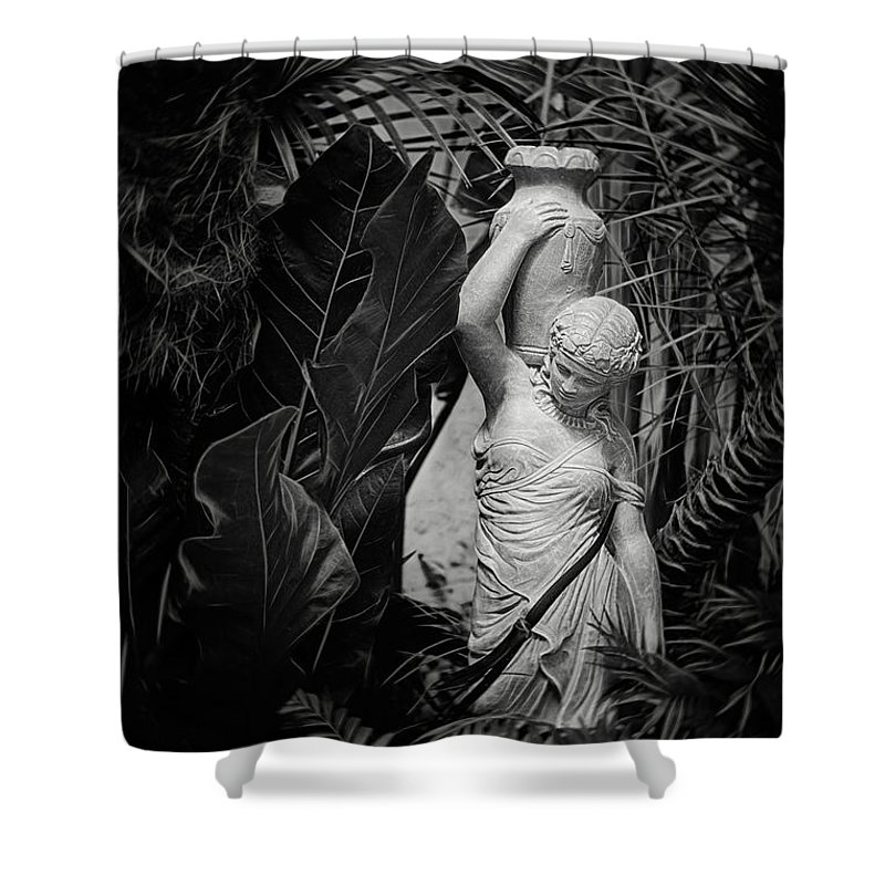 Statue Shower Curtain featuring the photograph Maiden Water Bearer by Tom Mc Nemar
