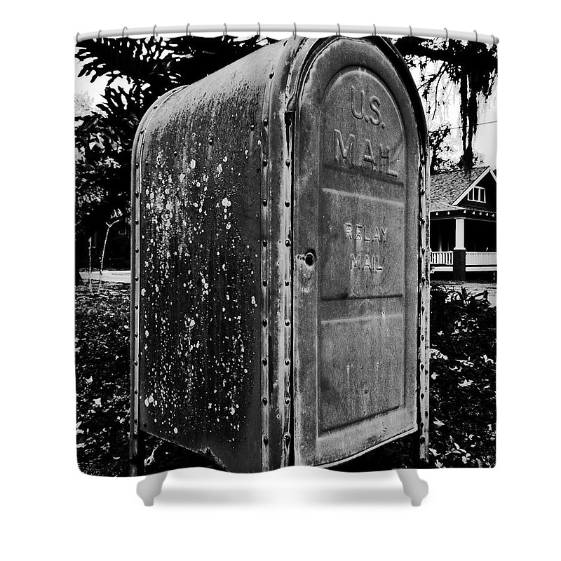 Mail Box Shower Curtain featuring the photograph Mail Box by David Lee Thompson