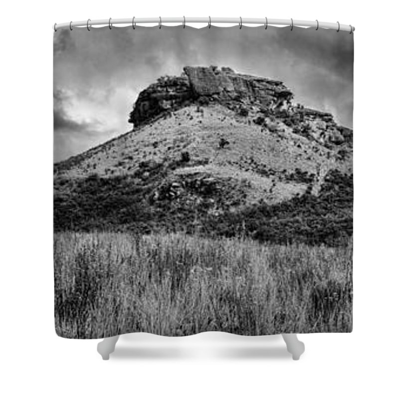 Drakensberg Shower Curtain featuring the photograph Main Caves Panorama - Drakensberg by Stephen Stookey