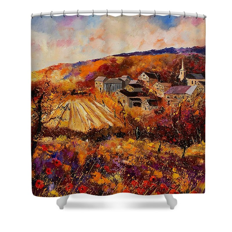Poppies Shower Curtain featuring the painting Maissin by Pol Ledent