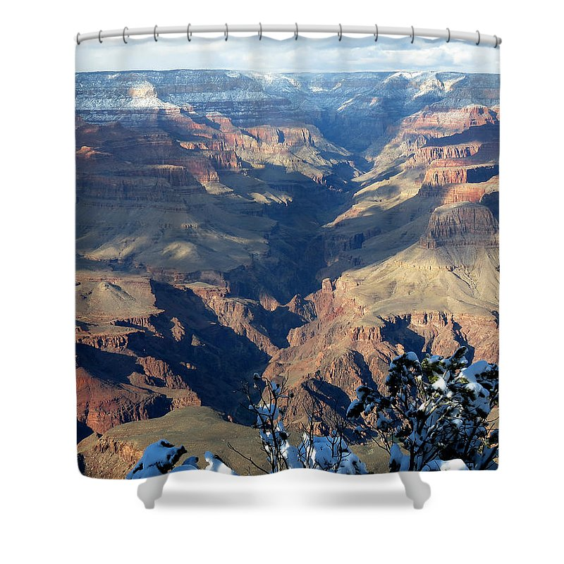 Grand Canyon Shower Curtain featuring the photograph Majestic Grand Canyon by Laurel Powell