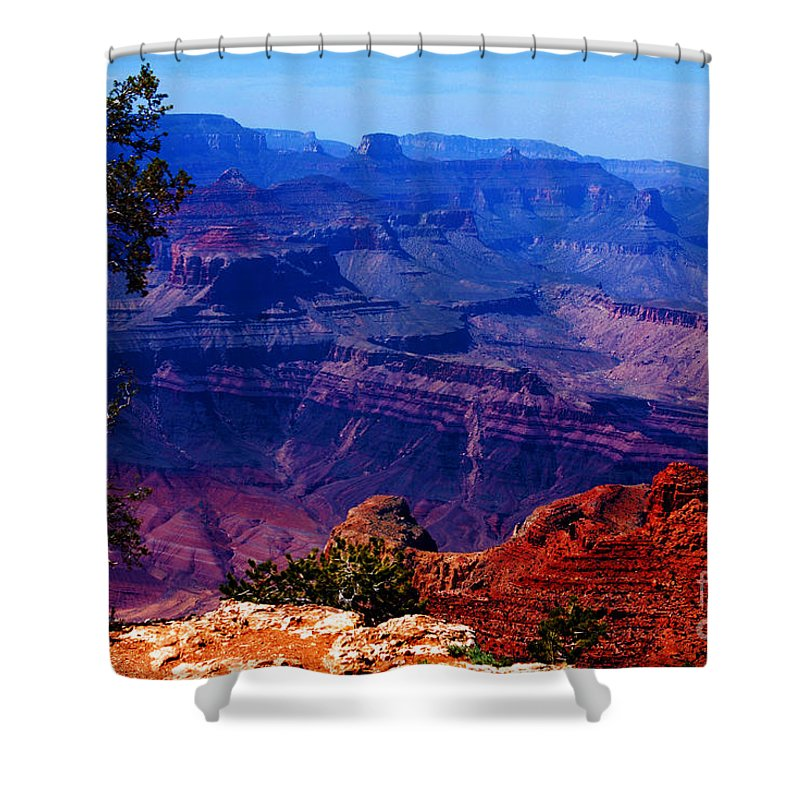 Majestic Shower Curtain featuring the photograph Majestic Grand Canyon by Susanne Van Hulst