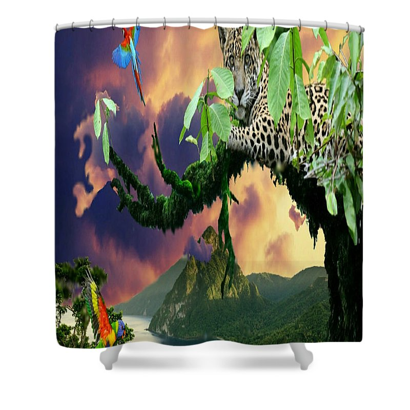 Leapord Shower Curtains