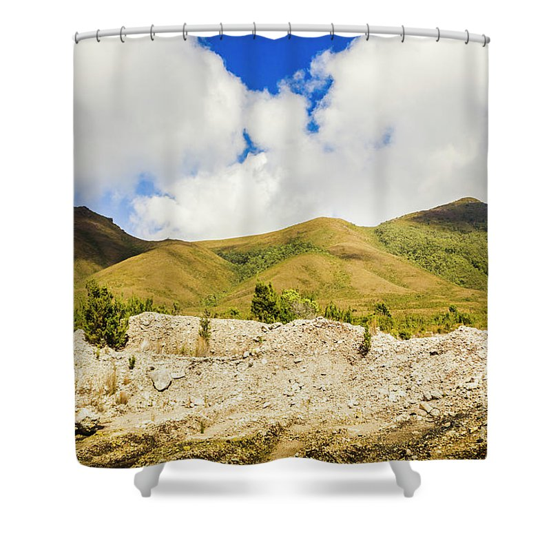 Tasmania Shower Curtain featuring the photograph Majestic Rugged Australia Landscape by Jorgo Photography - Wall Art Gallery