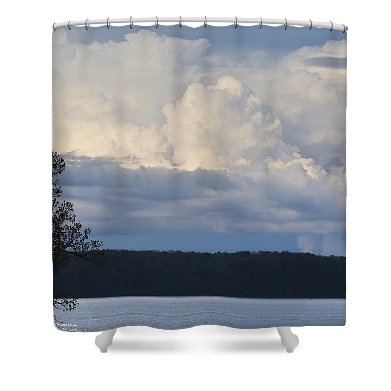 Sky Shower Curtain featuring the photograph Majestic Storm Clouds by Bobbie Moller