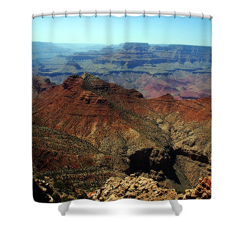 Grand Canyon Shower Curtain featuring the photograph Majestic View by Susanne Van Hulst