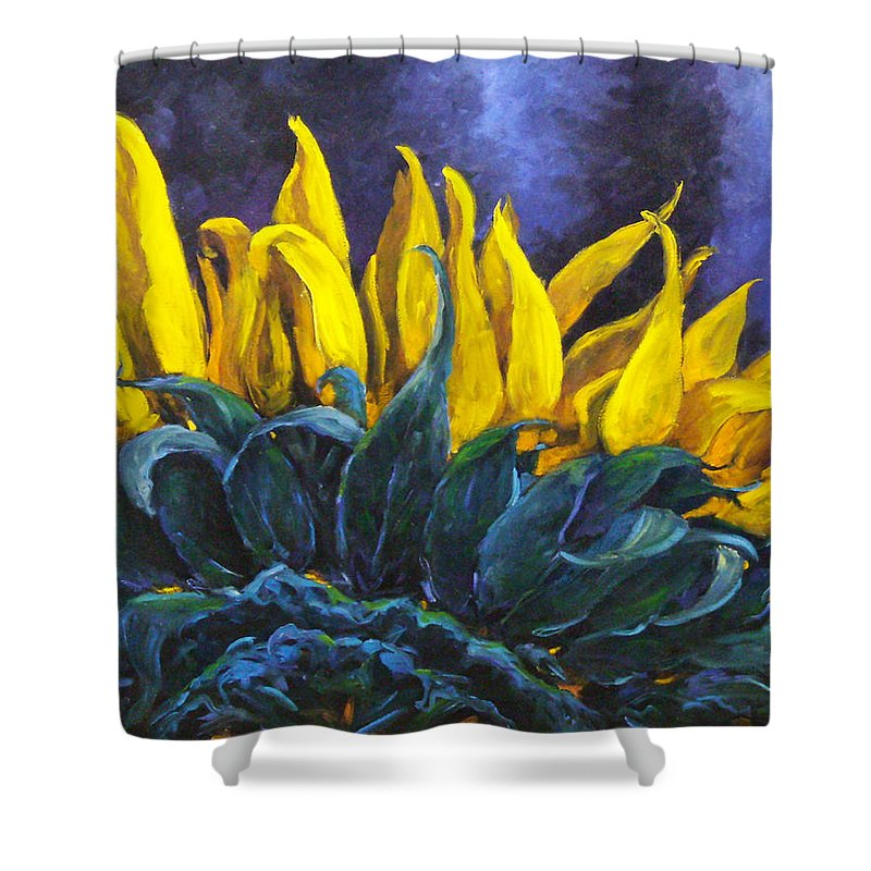 Flower Shower Curtain featuring the painting Majestica by Richard T Pranke
