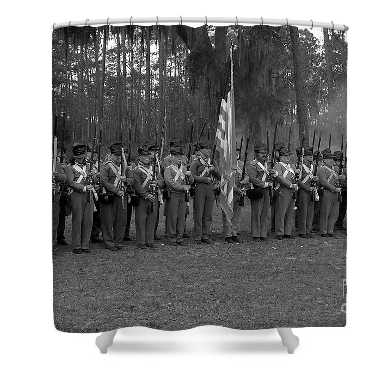 Dade Battlefield Shower Curtain featuring the photograph Major Dade's Men by David Lee Thompson
