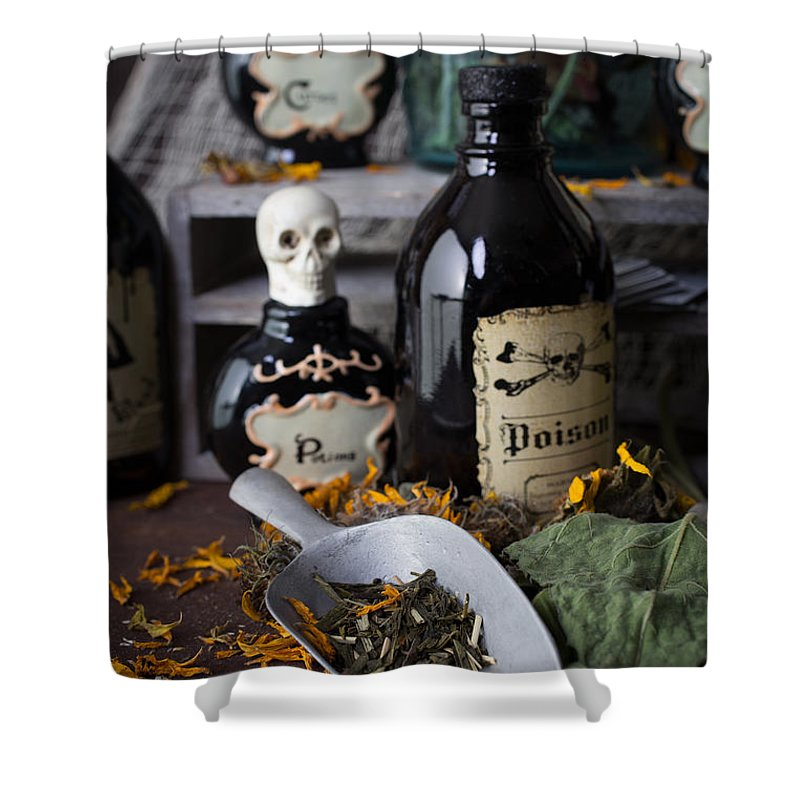 Witch Shower Curtain featuring the photograph Making Magic by Edward Fielding