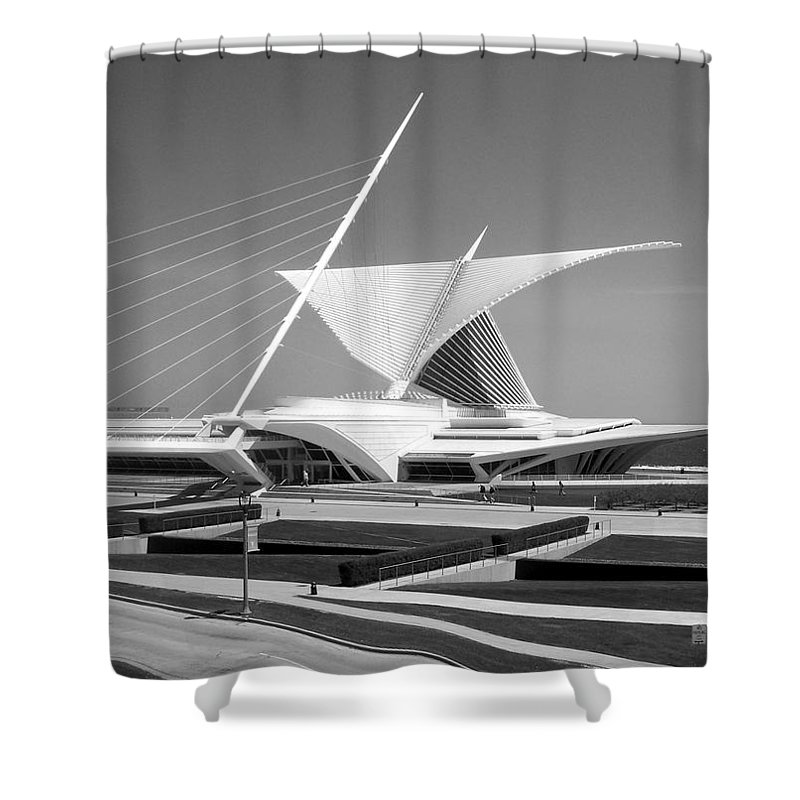 Mam Shower Curtain featuring the photograph Mam In Bw by Anita Burgermeister